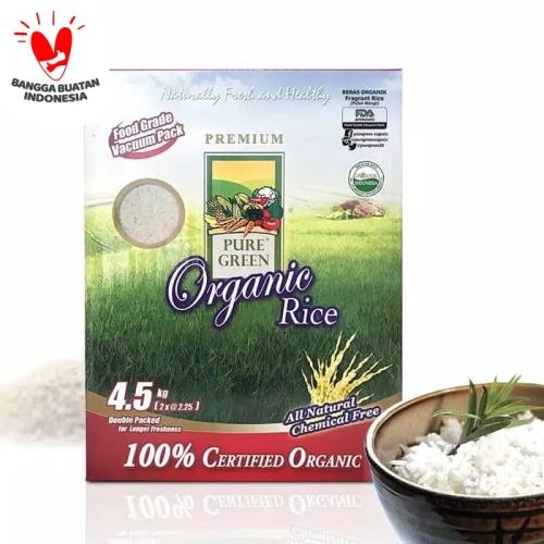 Foto Produk Puregreen Organic Rice Beras Organik Fragrant Rice Family Pack 4,5 kg dari Puregreen Official Store
