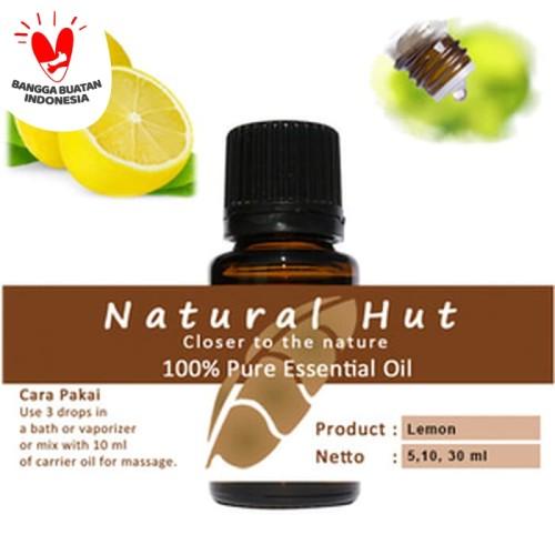 Foto Produk 100% PURE ESSENTIAL OIL (LEMON) - 10ml dari Natural Hut
