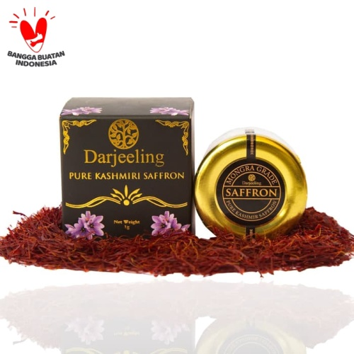 Foto Produk Darjeeling Kashmir Saffron Mongra Grade A Kuma Kuma 1g dari Darjeeling Store