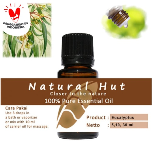 Foto Produk 100% PURE ESSENTIAL OIL (EUCALYPTUS) - 30ml dari Natural Hut
