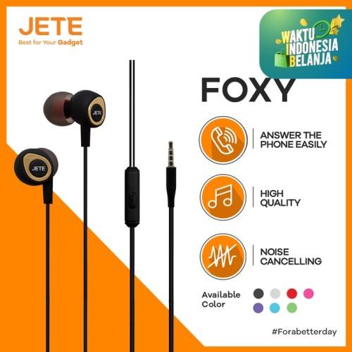 Foto Produk HEADSET | HEADPHONE | HANDSFREE | EARPHONE JETE FOXY - Hitam Hitam dari Gadget Point Store