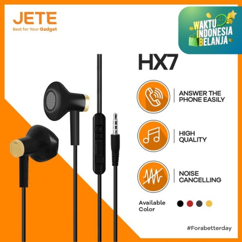 Foto Produk Headset Superbass JETE HX7 With Noise Cancelling - Putih Gold dari Gadget Point Store