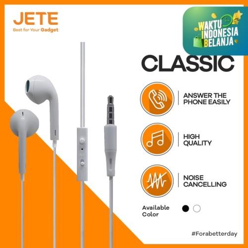 Foto Produk HEADSET | HEADPHONE | HANDSFREE | EARPHONE JETE CLASSIC - Putih dari Gadget Point Store