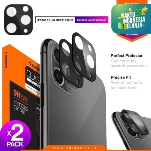 Foto Produk Camera Lens Protector iPhone 11 Pro / Max / 11 Spigen Tempered Glass - 11Pro 11ProMax, Mid Green dari Spigen Official
