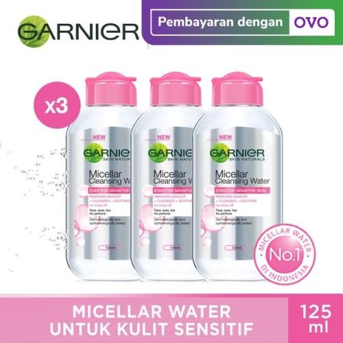 Foto Produk Garnier Micellar Water Pink 125ml Pack of 3 dari Garnier Official
