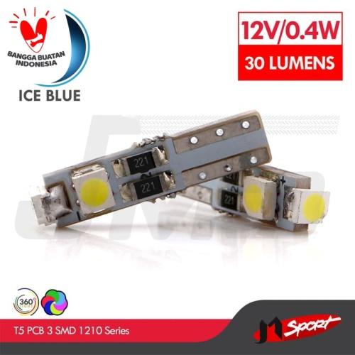 Foto Produk Lampu LED Speedometer T5 PCB 3 SMD 1210 Ice Blue - Model Nyamping dari Jaya Motorsport