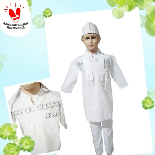 Foto Produk Baju Setelan Koko Pakistan Anak Putih Koko Turki Putih Anak dari Jadi Jayaa123