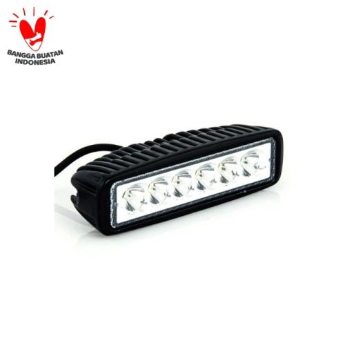 Foto Produk lampu tembak LED bar cree sorot kabut 6 mata workligh offroad DRL dari Kitaro MotorShop