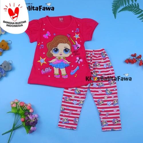 Foto Produk Setelan LOL uk 2-3 Tahun / Baju Anak Karakter Legging Perempuan - Motif Worm Zone dari Kios Balita Fawa