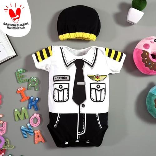 Foto Produk Baju Bayi Laki Laki Jumper Bayi Lucu Profesi Pilot Captain - Size 2 dari Mall-Baby