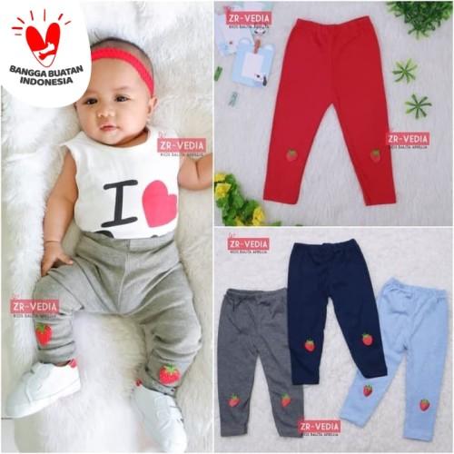 Foto Produk Legging Strawberry uk Bayi - 6 Tahun / Leging Kaos Anak Perempuan Baby - bayi 3-12 bulan dari ZR-Vedia