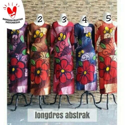 Foto Produk Gamis rayon murah / longdress batik pekalongan / daster lengan panjang dari RisqianaBatik