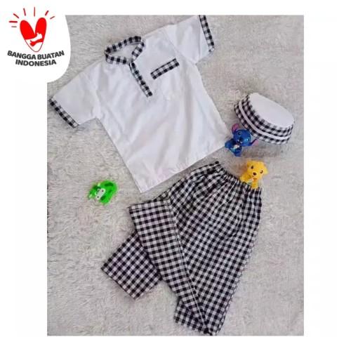 Foto Produk sarkoci/sarung koko peci/baju muslim anak laki laki usia 2-5 tahun - Size M, Pilih Motif dari widy aqila store