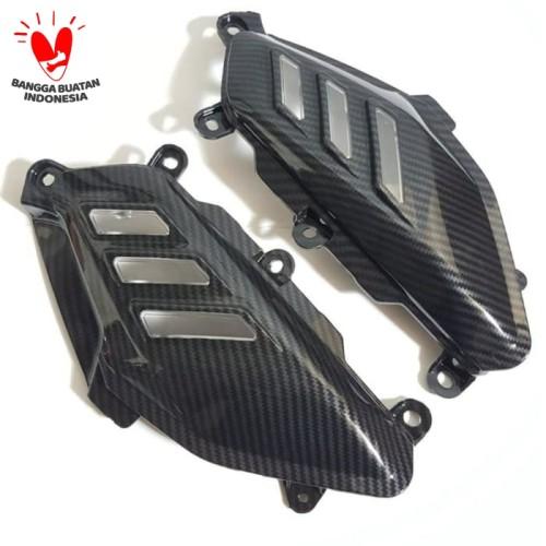 Foto Produk Cover Body Samping Nmax Carbon / Cover Pijakan Kaki Sirip Hiu Nmax dari Piston Cup
