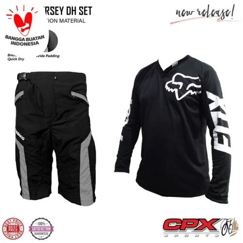 Foto Produk Baju Jersey sepeda Plus celana Padding - celana sepeda peding - L dari abaholot