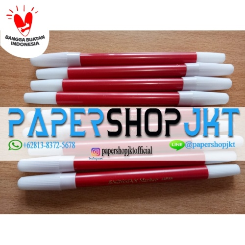 Foto Produk TERMURAH!!! Spidol Kecil Marker SNOWMAN MERAH - Merah dari Paper Shop Jkt