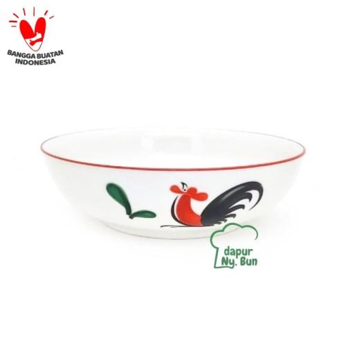 Foto Produk 1Pc Mangkok SOTO CEPER Ayam Jago Seri 2 Ukuran 7Inch/Mangkuk Porcelain dari Dapur Ny.Bun