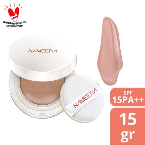 Foto Produk NAMEERA NATURALLY LUMINOUS BB CUSHION SPF 15 MEDIUM GOLDEN 15GR dari Nameera Official Store