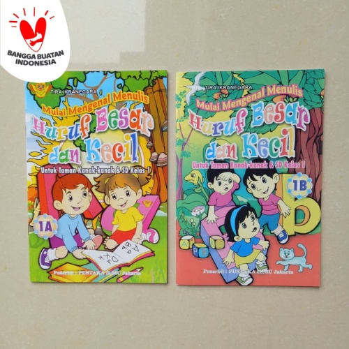 Foto Produk Buku Anak TK SD kelas 1 Belajar Menulis Huruf Besar Huruf Kecil 1A 1B dari ALIDA