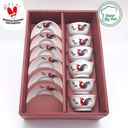 Foto Produk Premium Set Mangkok Mini dan Piring Mini Ayam Jago Seri 2 dari Dapur Ny.Bun