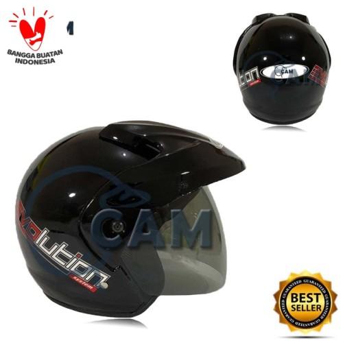 Foto Produk Helm SNI pluto polos Murah bukan jpx ink nhk - Hitam dari Boss helm