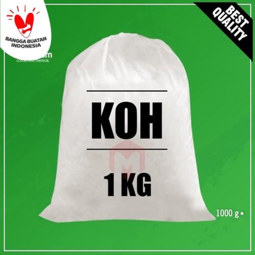 Foto Produk KOH / Potassium Hydroxide / Kalium Hidroksida - 1Kg dari Maximum Chemical