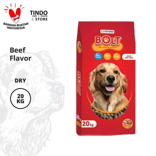 Foto Produk CPPETINDO Bolt Beef Dog Food - 20 Kg Kibble Bulat dari CPPETINDO