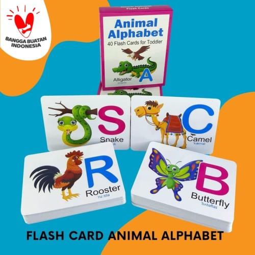 Foto Produk Flashcard Kartu Pintar ANIMAL ALPHABET dari Kinantikomik