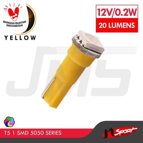 Foto Produk Lampu LED Mobil / Motor / Speedometer /Dashboard T5 1 SMD 5050 -Yellow dari Jaya Motorsport