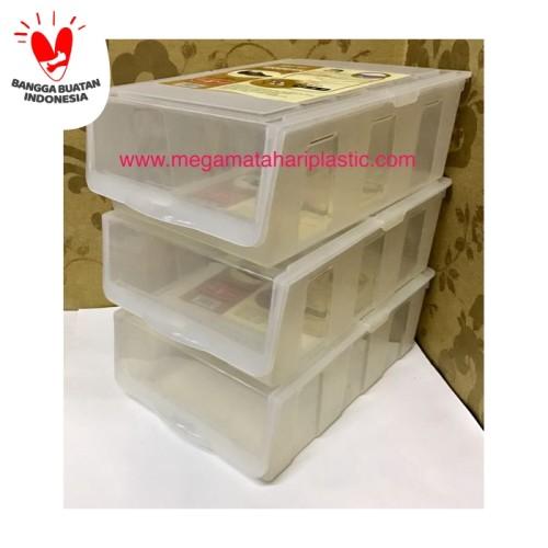 Foto Produk Kotak Sepatu / Tempat Sepatu / Shoe Box Plastik Transparant dari Matahari Plastic