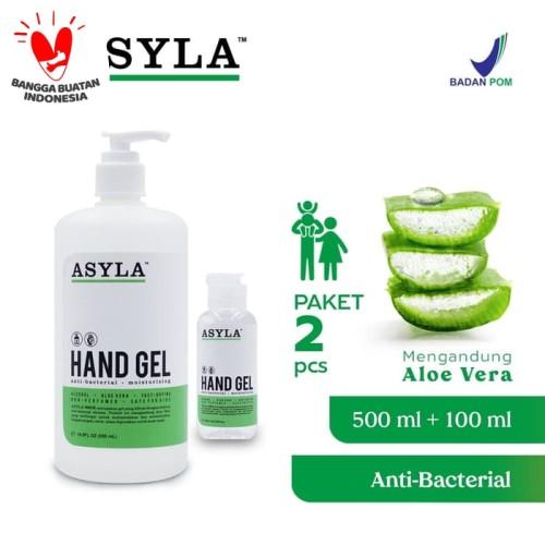 Foto Produk ASYLA Hand Gel 100ml (1pcs) + 500ml (1pcs) - Hand Sanitizer dari ASYLA OFFICIAL STORE