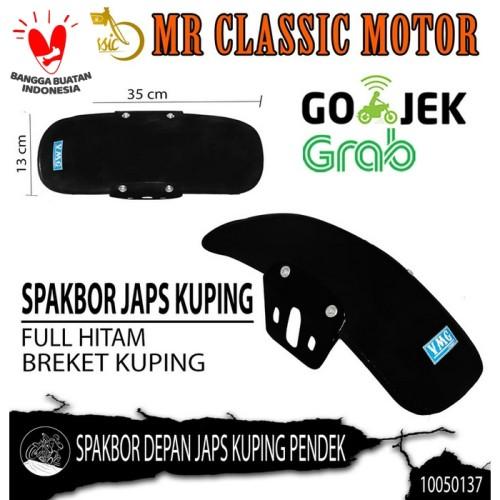 Foto Produk Spakbor / Slebor Depan Variasi Custom Japs Pendek Breket Kuping Hitam dari Mr. Classic Motor