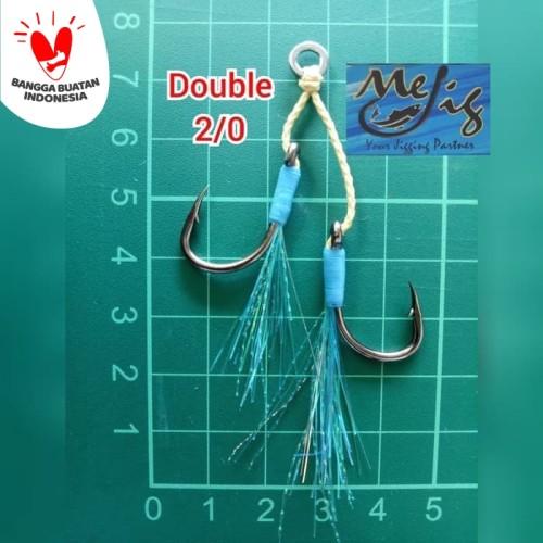 Foto Produk Assist hook / kail double micro jigging 2/0 dari MeJig Fishing