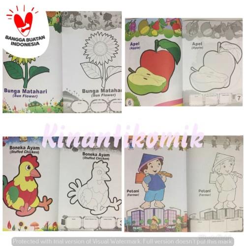 Foto Produk Buku Anak, buku belajar Mewarnai Ukuran Besar - BUNGA dari Kinantikomik