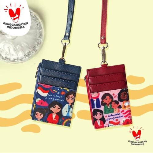 Foto Produk ID Card Wallet INDONESIAN STRONG WOMAN - Merah dari SOVLO