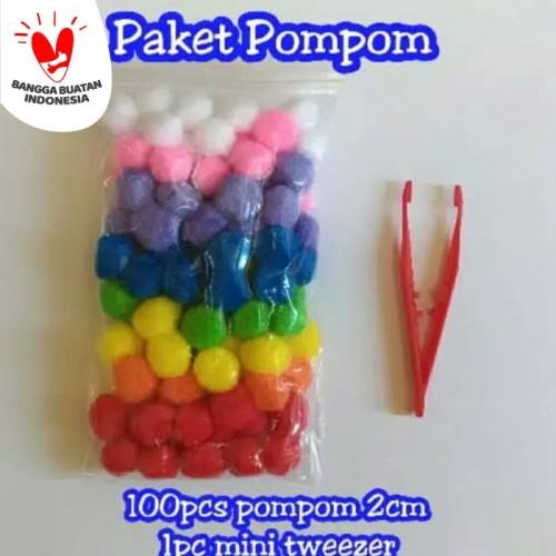 Foto Produk Paket Pompom Mainan Edukasi Anak Murah Montessori Warna Berhitung dari TweedyToys