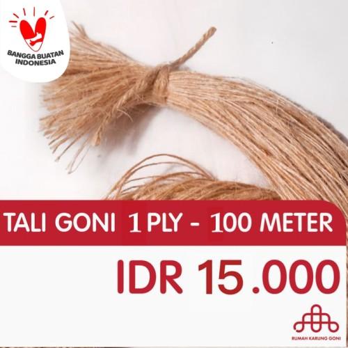 Foto Produk Tali Rami 1 Ply 100 Meter - Tali Craft Kado 0,5 MM - Tali Hang Tag dari Rumah Karung Goni
