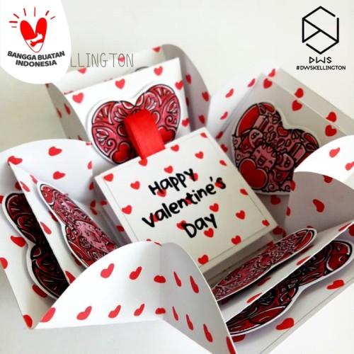 Foto Produk Kado Hadiah Pacar Valentine Pop Up Explosion Box Doodle dari Doodle Art DWskellington