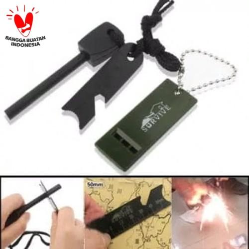 Foto Produk fire starter magnesium whistle survival outdoor dari dpeakoutdoor
