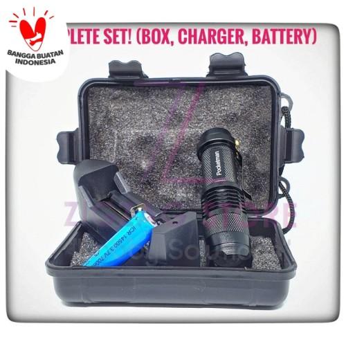 Foto Produk Paket Senter Pocketman LED (Box, Charger, Battery) dari ZigZag-Store