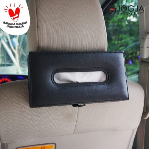 Foto Produk KOTAK TEMPAT TISSUE HEADREST MOBIL EXCLUSIVE - Hitam dari Jogja Crafts
