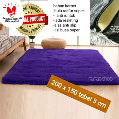 Foto Produk Karpet lantai bulu rasfur150x200x3cm - putih dari BROUMmedia
