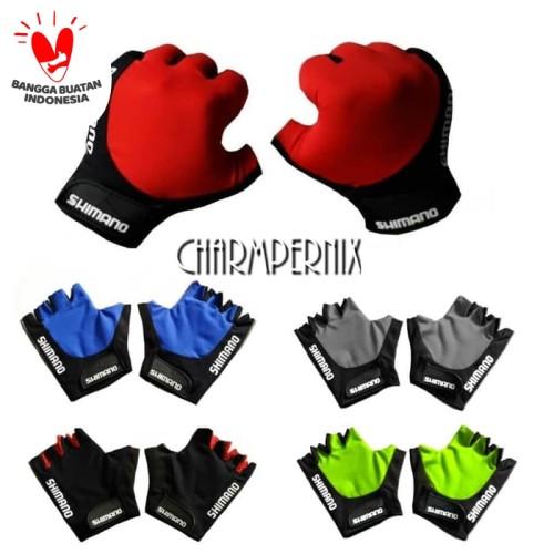 Foto Produk Sarung Tangan Sepeda / Gloves Half fingers - Biru dari abaholot