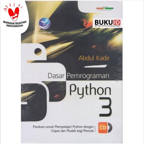 Foto Produk Buku Dasar Pemrograman Python 3 +cd dari Buku ID