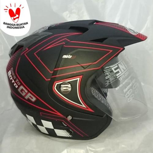 Foto Produk Helm DMN double visor Moto GP Red doff bukan BXP KYT INK GM NHK JPN dari Boss helm