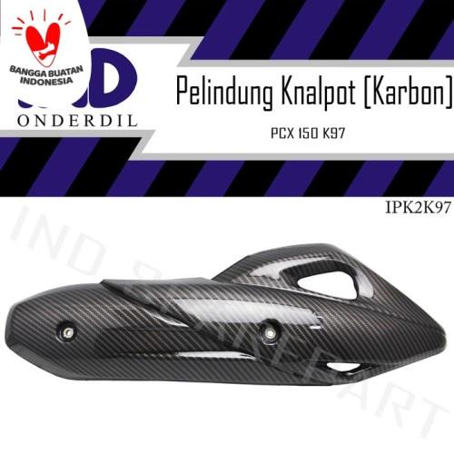 Foto Produk Pelindung-Cover-Tameng-Tutup Knalpot Karbon-Carbon PCX 150 New K97 dari IND Onderdil