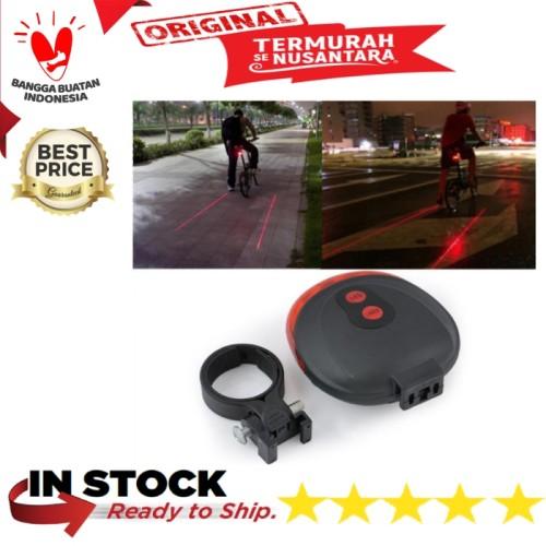 Foto Produk Lampu Belakang Sepeda Laser dari gowesmart