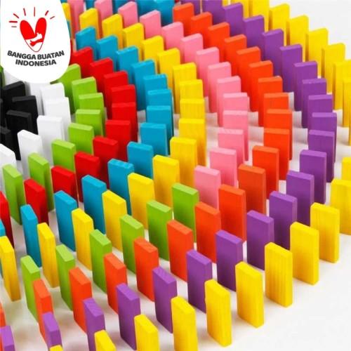 Foto Produk Balok Domino 120PCS multi warna dari Rumah Susun