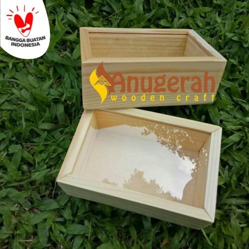 Foto Produk Wooden sliding acrylic box 15x20cm kotak kayu sliding akrilik dari Anugerah Sarana Abadi CV