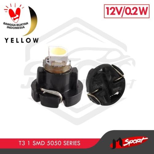 Foto Produk Lampu LED Mobil Motor / Speedometer / Dashboard T3 1 SMD 5050 - Yellow dari Jaya Motorsport